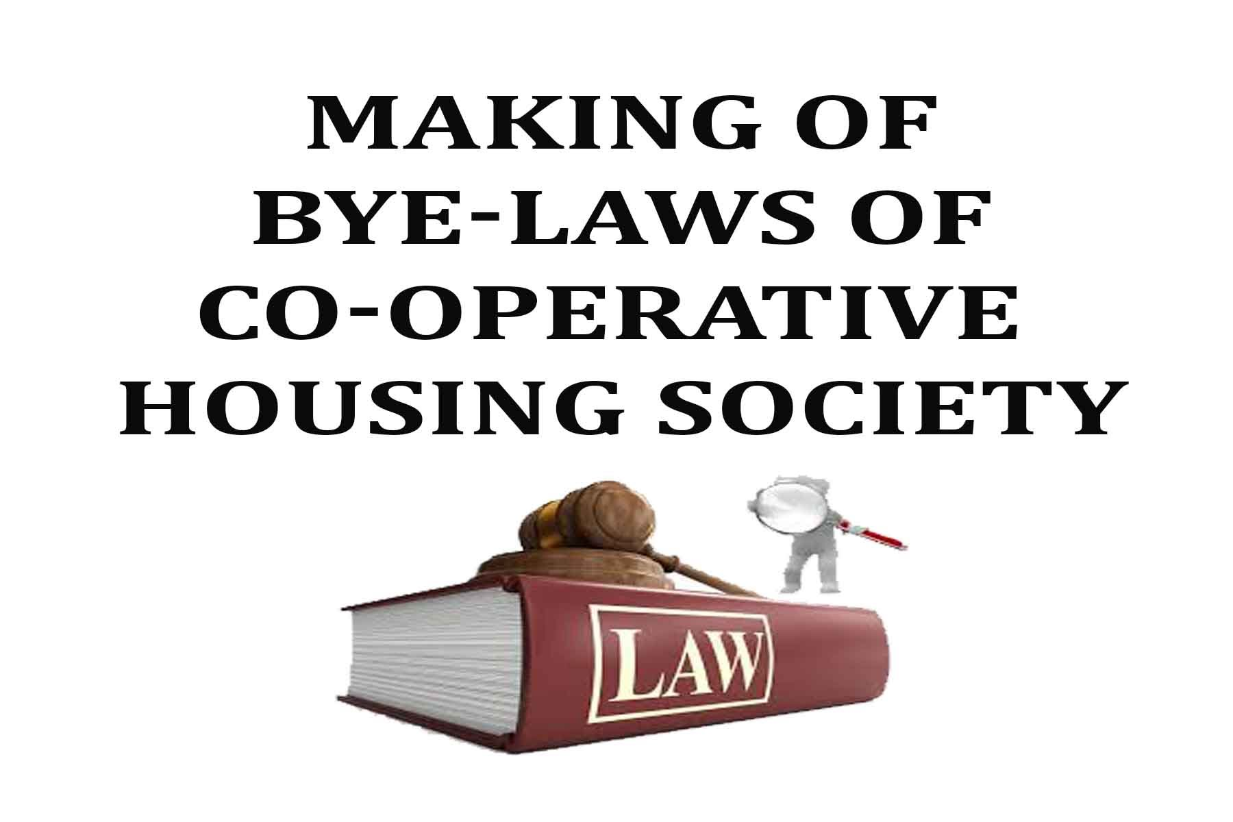 formation / registration of co-operative housing societies - ved legal